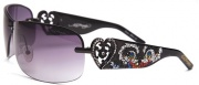 Ed Hardy EHS 031  Skunk - Blk & Purple