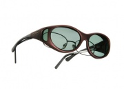 Cocoons OveRx Stream Line S Sunglasses Burgundy