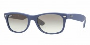 Ray-Ban RB2132 Sunglasses New Wayfarer  Sunglasses - 811/32 Light Blue Rubber / Crystal Gray Gradient
