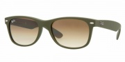 Ray-Ban RB2132 Sunglasses New Wayfarer  Sunglasses - 812/51 Camo Green Rubber / Crystal Brown Gradient