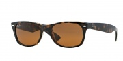 Ray-Ban RB2132 Sunglasses New Wayfarer  Sunglasses - 710 Light Havana / Crystal Brown