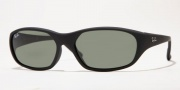Ray-Ban RB2016 Sunglasses Daddy-O Square Wrap Sunglasses - (601) Black w/Crystal Green G-15XLT lenses
