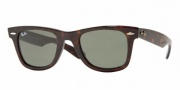 Ray-Ban RB2140 Sunglasses Original Wayfarer Sunglasses - 110885 Havana Blue Orange Brown / Gradient Brown