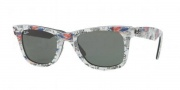 Ray-Ban RB2140 Sunglasses Original Wayfarer Sunglasses - 1084 Grey Dark and Light / Crystal Green
