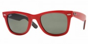 Ray-Ban RB2140 Sunglasses Original Wayfarer Sunglasses - 1089 Top Texture on Black / Crystal Green