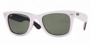 Ray-Ban RB2140 Sunglasses Original Wayfarer Sunglasses - 955 Top Red on Black / Crystal Green