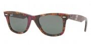 Ray-Ban RB2140 Sunglasses Original Wayfarer Sunglasses - 822/N1 Blue Gradietn on Transparent / Crystal Gray Gradient Pink