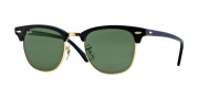 Ray-Ban RB3016 Sunglasses Clubmaster Sunglasses - (W0365)Ebony-Arista / Crystal Green