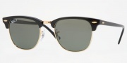 Ray-Ban RB3016 Sunglasses Clubmaster Sunglasses - 110371 Top Black on Red / Crystal Gradient Gray