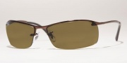 Ray-Ban RB3183 Sunglasses Top Bar  Sunglasses - 004/82 Gunmetal/ Polarized Grey Gradient Silver Mirror lenses