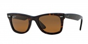 Ray-Ban RB2140 Sunglasses Polarized Original Wayfarer Sunglasses - (902/57) Tortoise Crystal Brown Polarized