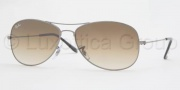 Ray-Ban RB3362 Sunglasses Cockpit Sunglasses - 003/32 Silver Crystal / Gray Gradient