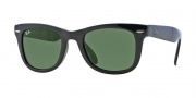 Ray-Ban RB4105 Sunglasses Folding Wayfarer Sunglasses - 601 Black Crystal Green