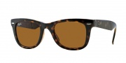 Ray-Ban RB4105 Sunglasses Folding Wayfarer Sunglasses - 710 Light Havana / Crystal Brown