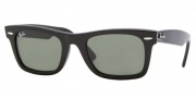 Ray-Ban RB2151 Sunglasses Wayfarer Square Sunglasses - (901) Black / Crystal Green