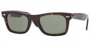 Ray-Ban RB2151 Sunglasses Wayfarer Square Sunglasses - (902) Tortoise / Crystal Green