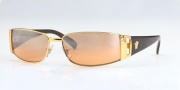 Versace VE2021 Sunglasses Sunglasses - 1002/7H Gold/Brown Orange Fade Lenses