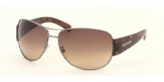 Prada PR 52GS Sunglasses Sunglasses - Shiny Gunmetal/Brown Gradient (5AV6S1)