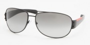 Prada PS 52GS Sunglasses Sunglasses - Demi Shiny Bl./Gray Grad. (1BO3M1)