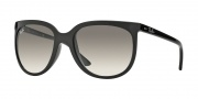 Ray-Ban RB4126 Sunglasses Cats 1000 Sunglasses - (601-32) Black/Crystal Gray Gradient