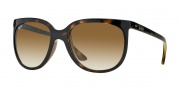 Ray-Ban RB4126 Sunglasses Cats 1000 Sunglasses - (710-51) Light Havanah/Crystal Brown