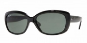 Ray-Ban RB4101 Sunglasses Jackie Ohh Sunglasses - (601) Black/Crystal Green
