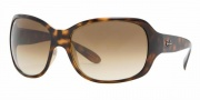 Ray-Ban RB4118 Sunglasses Sunglasses - (710-51) Light Havana/Crystal Brown/Gradient