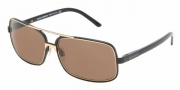 Dolce & Gabbana/ DG 2048 Sunglasses Sunglasses - (025-73) Gloss Black/Brown