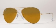 Ray-Ban RB3025 Sunglasses Large Metal 58 Size Sunglasses - (W3276) Gold/Gold