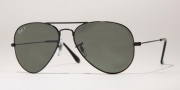 Ray-Ban RB3025 Sunglasses Large Metal 58 Size Sunglasses - 002/58 Black / Crsytal Green Polarized