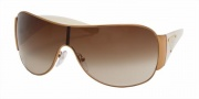 Prada PR 57LS Sunglasses Sunglasses - (ZVA6S1) Ivory/Brown Gradient