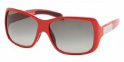 Prada PS 08HS Sunglasses - 0BU3M1 Red+White Rubber/Gray Gradient