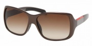 Prada PS 08HS Sunglasses - 7BG6S1 Metallic Brown/Brown Gradient