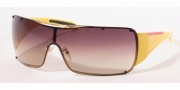 Prada PS 51GS Sunglasses - 5AK6S1 Shiny Gold/Brown Gradient