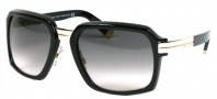 DSquared2 DQ0009/S Sunglasses - (01B)Shiny Black/Smoke Gradient