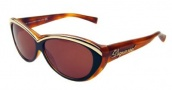 DSquared2 DQ0018/S Sunglasses - (05E)Black Gold Brown /Brown Lenses
