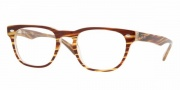 Ray-Ban 5165 Eyeglasses - 2328 Brown Strip on Brown Opaline