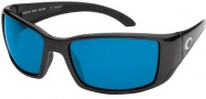 Costa Del Mar Blackfin - Matte Black Frame Sunglasses - Blue Mirror / 400G