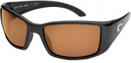 Costa Del Mar Blackfin - Matte Black Frame Sunglasses - Dark Amber / 400G