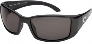 Costa Del Mar Blackfin - Matte Black Frame Sunglasses - Dark Gray / 400G