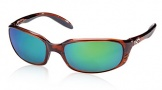 Costa Del Mar Brine Sunglasses Shiny Tortoise Frame Sunglasses - Sunrise Glass/COSTA 400