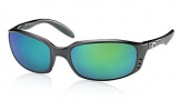 Costa Del Mar Brine Sunglasses Matte Black Frame Sunglasses - Green Mirror Glass/COSTA 400