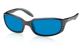 Costa Del Mar Brine Sunglasses Matte Black Frame Sunglasses - Blue Mirror Glass/COSTA 580