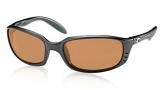 Costa Del Mar Brine Sunglasses Matte Black Frame Sunglasses - Amber / 580P