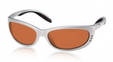 Costa Del Mar Fathom Sunglasses Silver Frame Sunglasses - Sunrise Glass/COSTA 400