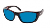 Costa Del Mar Fisch Sunglasses Shiny Tortoise Frame Sunglasses - Vermillion Glass/COSTA 400