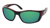 Costa Del Mar Fisch Sunglasses Shiny Tortoise Frame Sunglasses - Sunrise Glass/COSTA 400