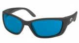 Costa Del Mar Fisch Sunglasses Shiny Black Frame Sunglasses - Vermillion Glass/COSTA 400