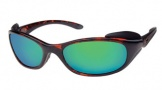Costa Del Mar Frigate Sunglasses Shiny Tortoise Frame Sunglasses - Vermillion Glass/COSTA 400