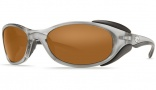 Costa Del Mar Frigate Sunglasses Silver Frame Sunglasses - Amber / 580P